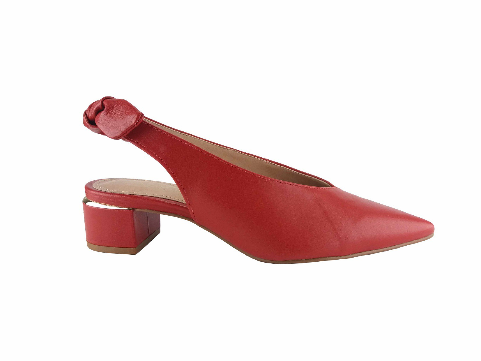 Sapato Vermelho Scarlet Detalhe Laço Stéphanie Classic