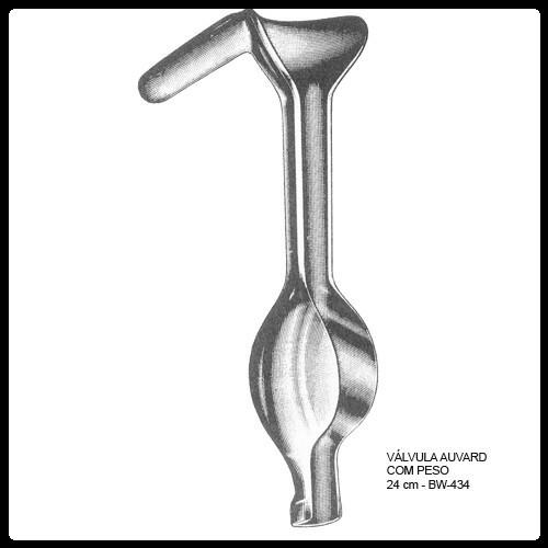 Afastador Auvard com peso 24cm (Válvula Auvard)