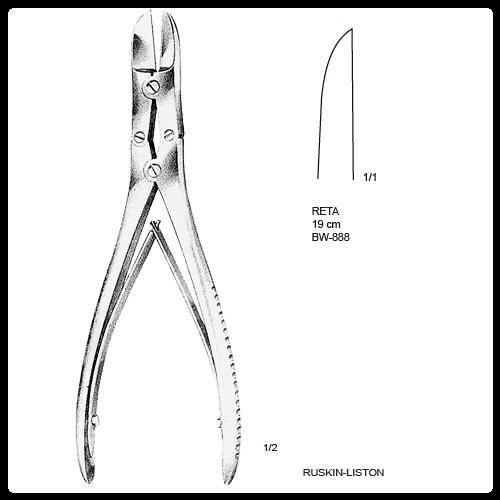 Cizalha Ruskin Liston Dupla Articulação 19cm