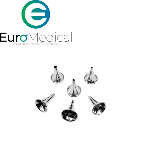 Espéculo Auricular três unidades em aço inox 2,5mm - 4,0mm - 5,0mm
