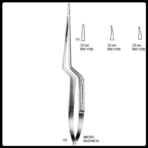 Micro Porta Agulha Baioneta 23cm