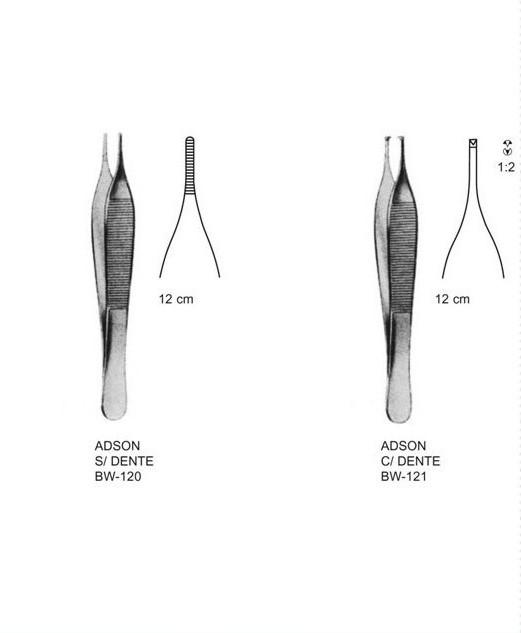 Pinça Adson 12cm