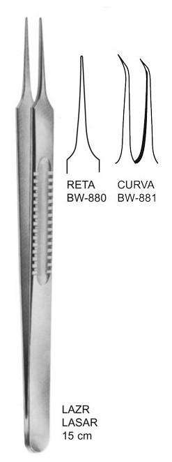 Pinça Lazar 16,5cm para microcirurgia