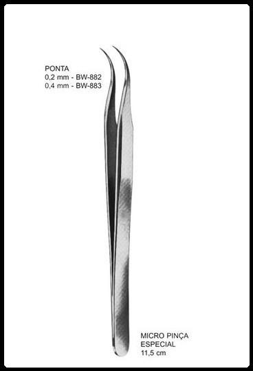 Pinça Micro Especial 11,5cm (Tipo relojoeiro)