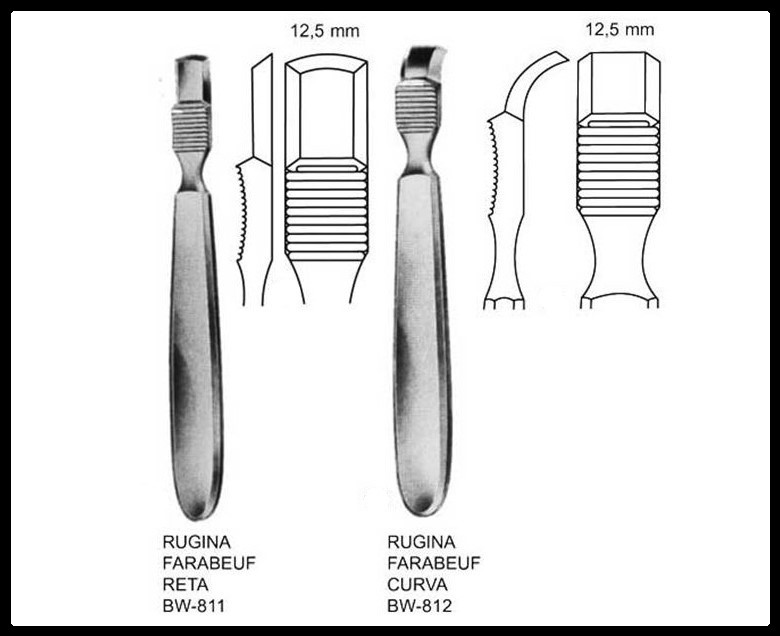Rugina Farabeuf 12,5mm (Elevador de periósteo)