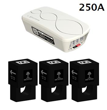 Medidor Inteligente Smart Meter SolarView Polifásico 2ª Geração com 3 TCs Abertos de 250A + Licença SV Web
