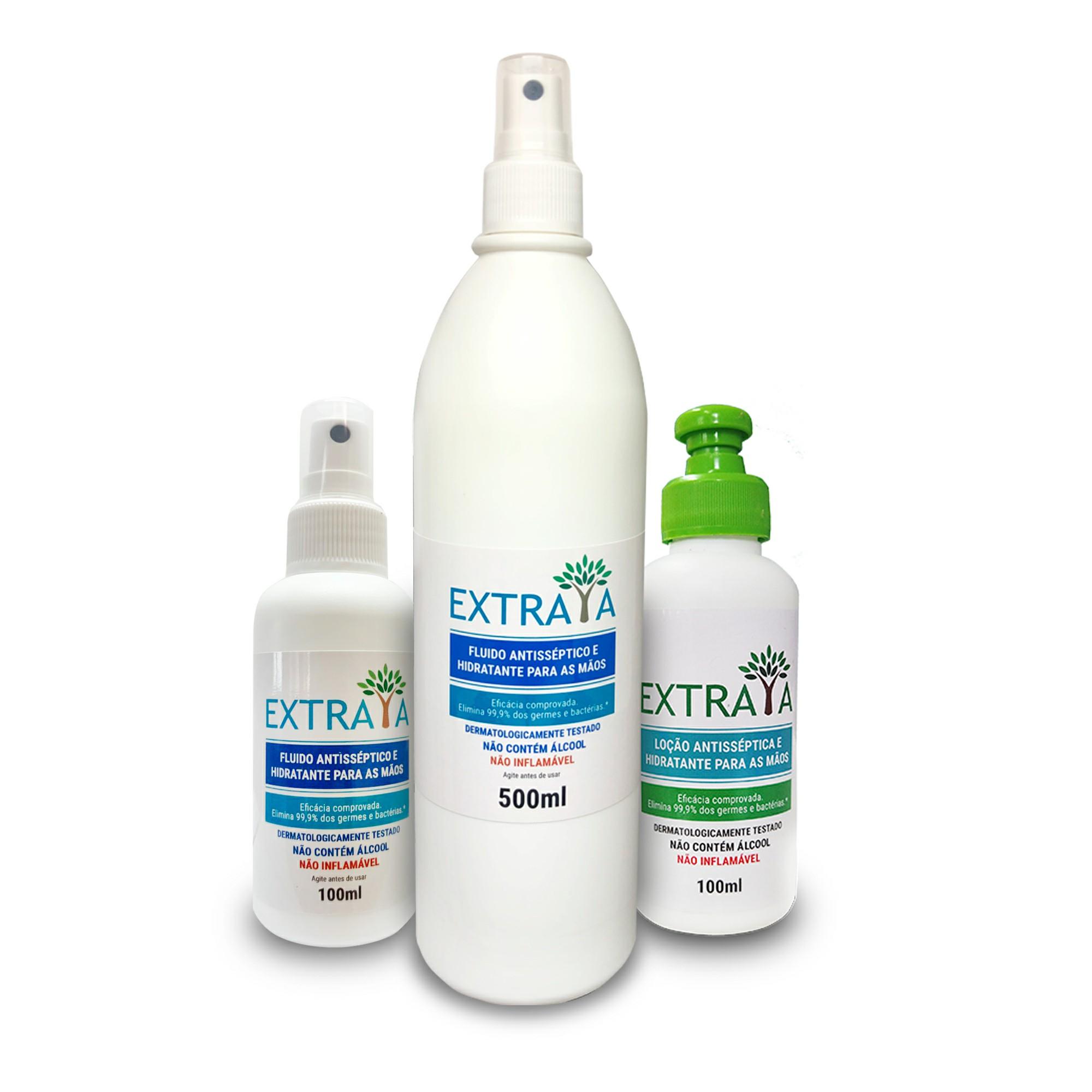 KIT 4 - Spray 500 ml, loção e spray 100 ml