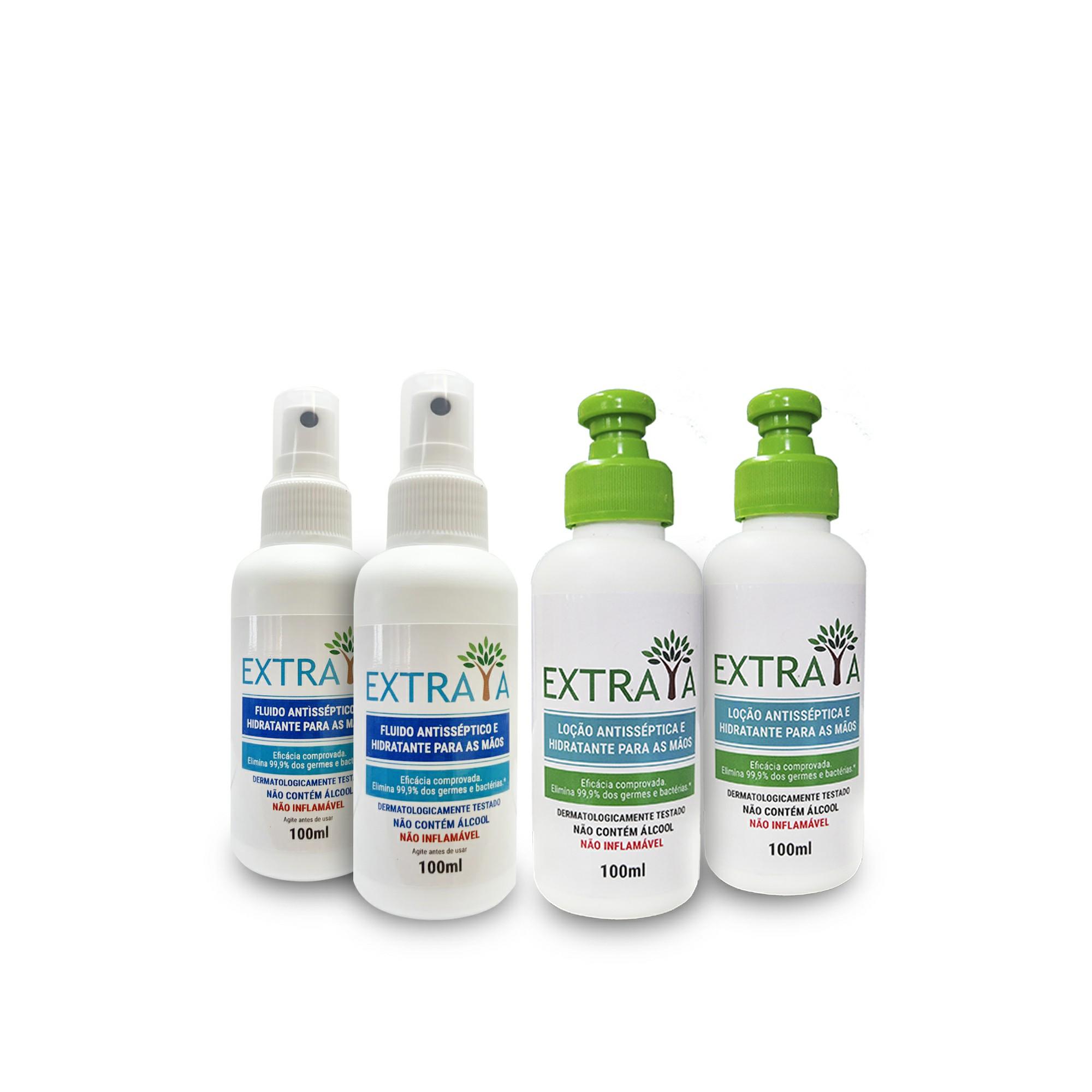 KIT 6 - 2 Loções e 2 sprays 100 ml