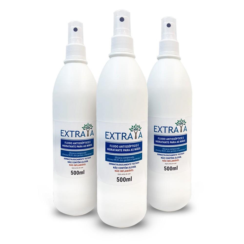 Spray Hidratante Antisséptico 500ml - 3 unidades