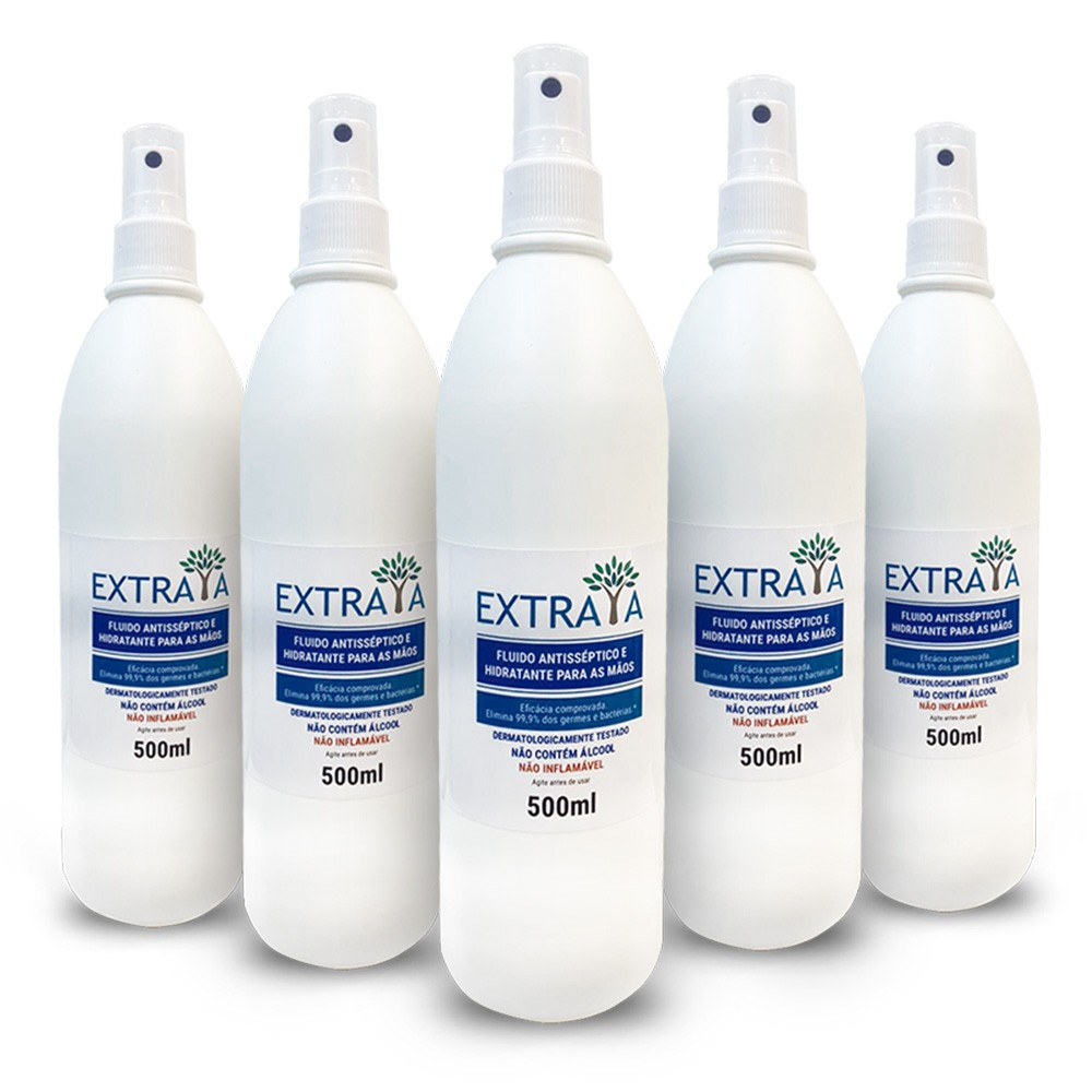 Spray Hidratante Antisséptico 500ml - 5 unidades