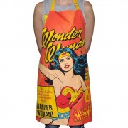 Avental Algodao Dc Wonder Woman Cover Page Rosa 70cmx80cm