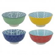 Bolws de Cerâmica Coloridos Bec 4 Peças