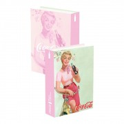Caixa Livro Coca-Cola Pin Up Lady In A Bike Fd 25cmx17cmx4cm
