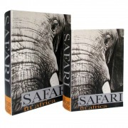 Caixa de Livro De Madeira Safari 2 Peças
