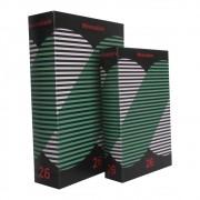 Caixa Livro em Madeira Minimalism 26  2 Peças 30cmx21cmx7cm