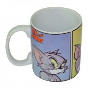 Caneca HB Tom And Jerry Cat All Faces Porcelana 300ml