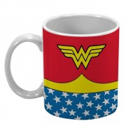Caneca Porcelana Dc Ww Body Customs Vermelha