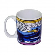 Caneca Porcelana New Dc Batman Car Azul 300ml