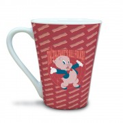 Caneca Tulipa Looney Pork Piggy Thats All Folks 300ml