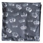 Capa Para Almofada Loft Crowns Preto  45cmx45cm