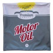 Capa Para Almofada Loft Motor Oil Cinz Poliéster 45cmx45cm