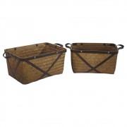 Conjunto de Cesto De Bambu  2 peças