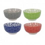 CÓPIA - CÓPIA - Bolws de Cerâmica Coloridos Concha 4 Peças