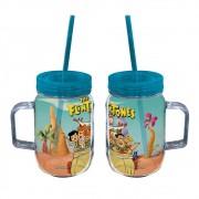 Copo jarra Os Flintstones Família  Acrílico 550ml