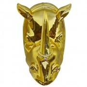 Escultura em Cerâmica Rhino´s Head  25cmx15cmx15cm