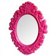 Espelho Oval Big Princess Branco 68cmx50cmx3cm