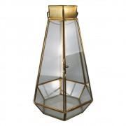 Lanterna De Vidro e Metal Bec 26cmx16cmx17cm