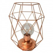 Luminária De Led  Metal Geométrica Dourado 22cmx15cmx15cm
