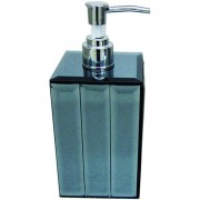 Porta Sabonete Líquido Vidro Espelhado Azul 18cmx07cm