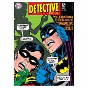 Quadro Tela Batman e Robin 70cmx50cmx3cm