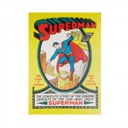 Quadro Tela Superman Dc Amarelo 70cmx50cmx3cm