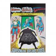 Quadro Tela Superman DC Breaks 70cmx50cmx3cm