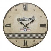 Relógio de Parede em Madeira Aviação 34cm