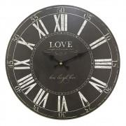 Relógio de Parede em Madeira Love 34cm