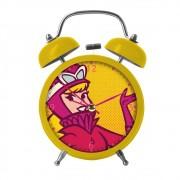 Relógio Despertador  De Metal Penélope 16cmx11cmx06cm