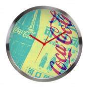 Relógio Parede Metal Coca-Cola NewsPaper 30cm