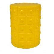 Seat Garden Cerâmica Amarelo Store 46cmx33cmx33cm
