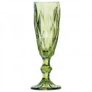 Taças De Champagne De Vidro Verde Frans 140ml 6 Peças