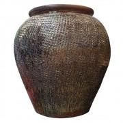 Vaso Vietnamita Cerâmica Oval  65cmx43cmx64cm