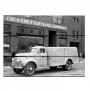Placa de madeira coca-cola big truck
