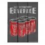 Placa de madeira coca-cola six pack cans fd