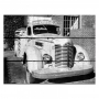 Placa de madeira coca-cola truck front view pb