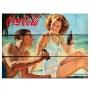 Placa madeira coca-cola couple in a beach fd praia
