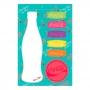 Set bloco de notas com adesivo coca-cola contuor bottle and
