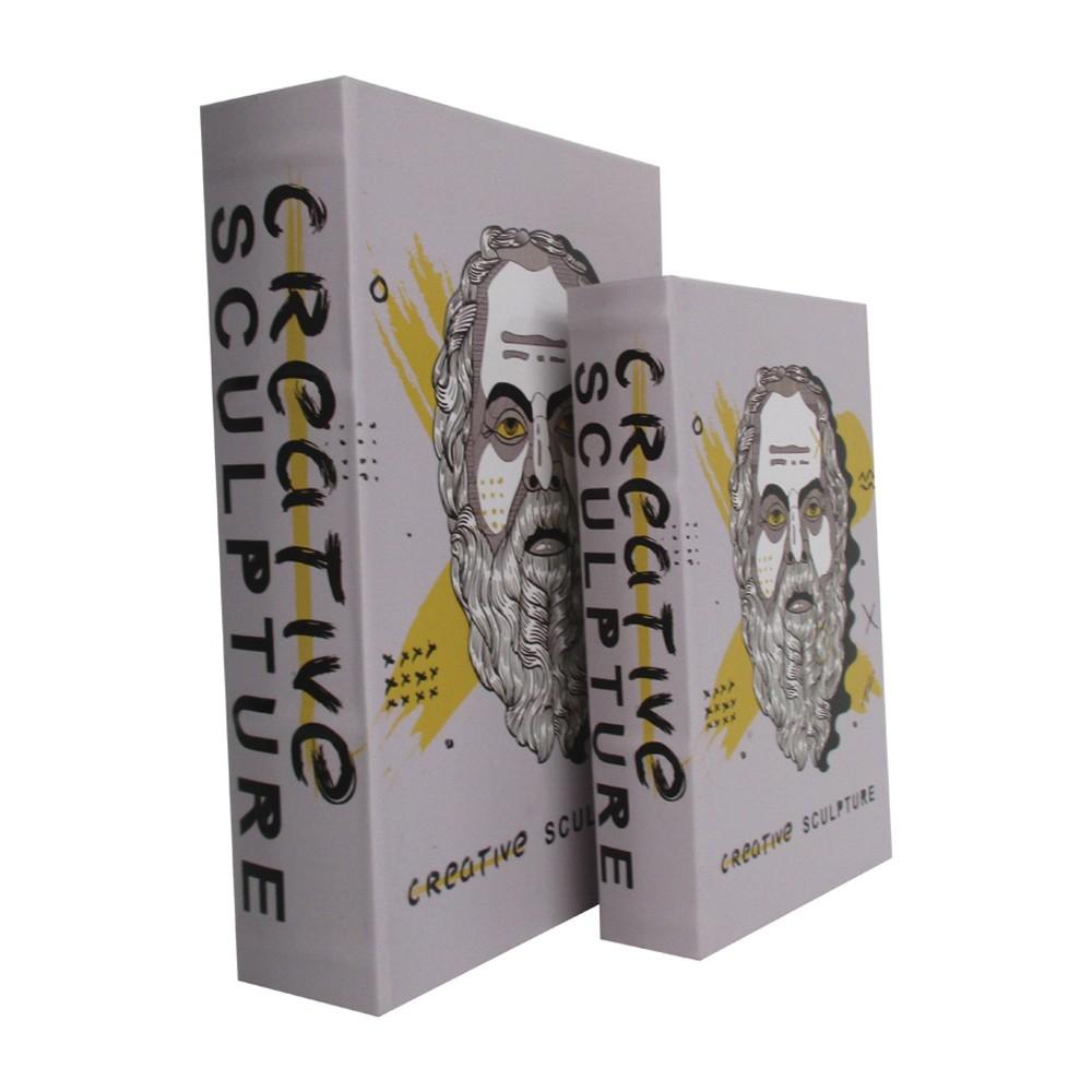Caixa Livro Criative Sculpture 2 Peças 30cmx21cmx7cm