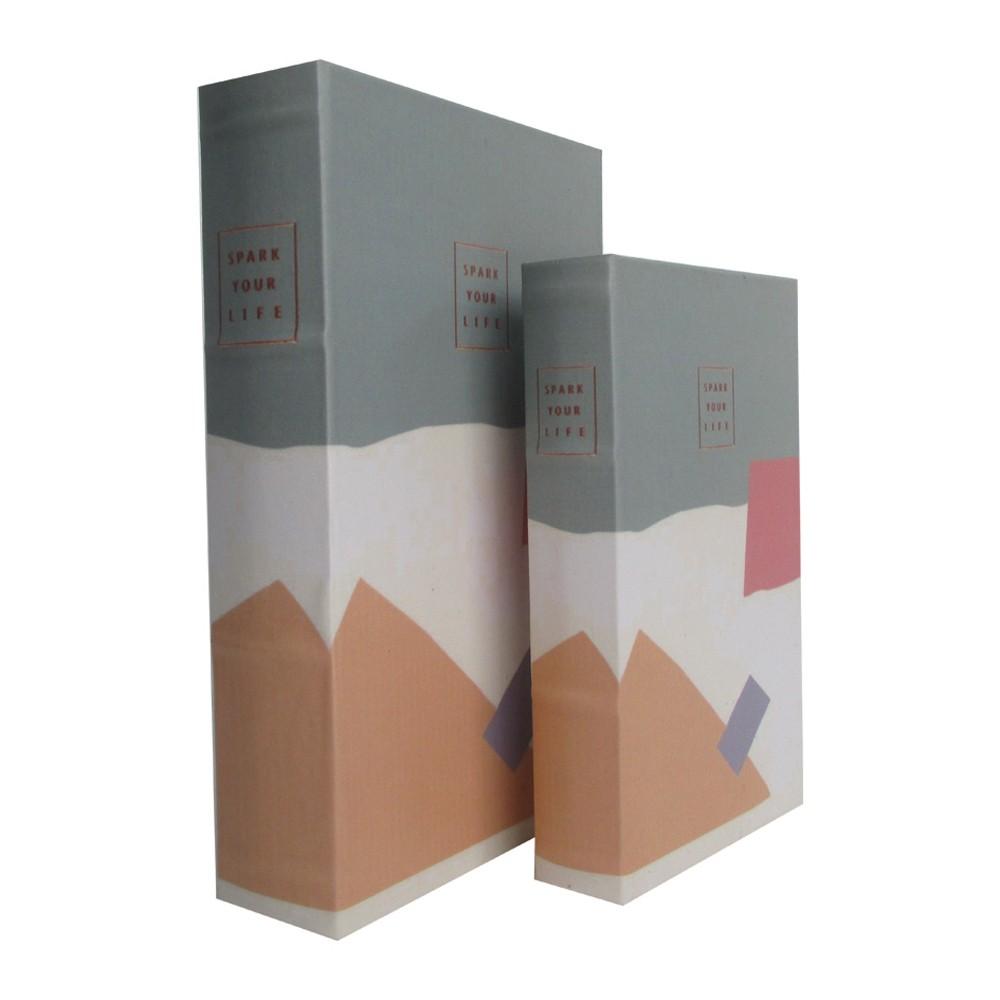 Caixa Livro em Madeira Spare Your Life Peças 2 30cmx21cmx7cm